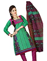 atisundar admirable Green Traditional Cotton Printed Salwar Suit- 4380_39_6060
