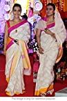 Bollywood Replica Kajol Cotton Silk Saree In Off White and Pink Colour NC221