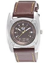 Helix Force Analog Brown Dial Men's Watch - TI013HG0400