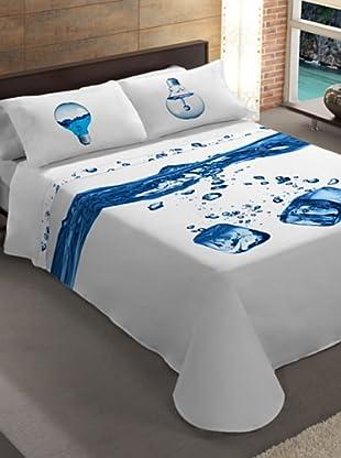 Manterol Cubrecamas Agua (Azul)