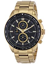 "Lucien Piccard Men's LP-12552-YG-11 ""Cartagena"" Gold Ion-Plated Watch"