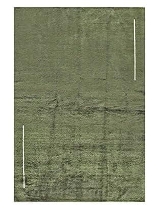 Bashian Fine Tibetan Silk & Wool Rug, Cypress, 6.2X9.1