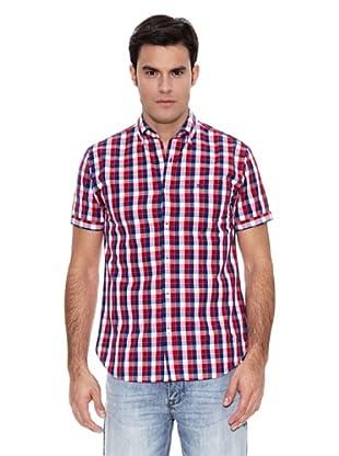 Pedro del Hierro Camisa M.Corta Mid Check Popelin (Rojo)