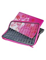 Altego Designer Neoprene Laptop Sleeve, Clear Cover, Air Cushion Shock Resistant Technology, Fits All Laptop up to 15.6 inch, Pink