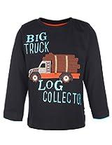 Ollypop Full Sleeves T-Shirt Balck - Truck Print
