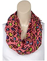 Betsey Johnson Girls' Cat Nap Infinity Scarf - Pink - One Size