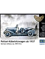 1/35 German Military Car, WWII era, Polizei-Kbelsitzwagen ab 1937 Model Kit Car Mercedes Benz auto automobile