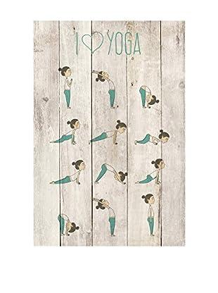 Surdic Holztafel Love Yoga