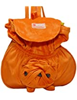 Rahejacraft Bull Dog Plush Backpack, Dark and Light Orange
