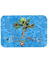 Caroline's Treasures 8708CMT Welcome Palm Tree on Kitchen or Bath Mat, 20 by 30 , Multicolor