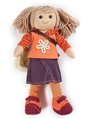My Doll Stoffpuppe Jeansrock orange