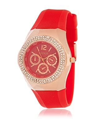 My Silver Reloj Rosado Rojo Strass