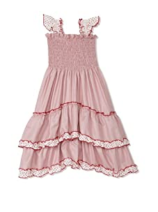 4EverPrincess Girl's Angel Dress (Red/White Gingham)