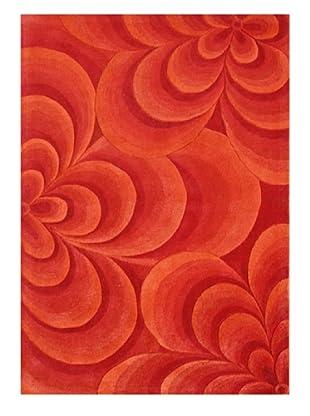Horizon Alliyah Collection Rug (Red/Orange)