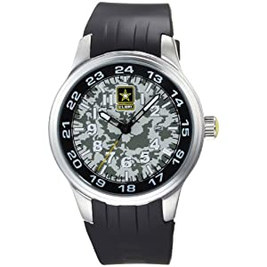 US Army Men's CAV - 911 Cavalry  Artillery Stainless Steel Watch
