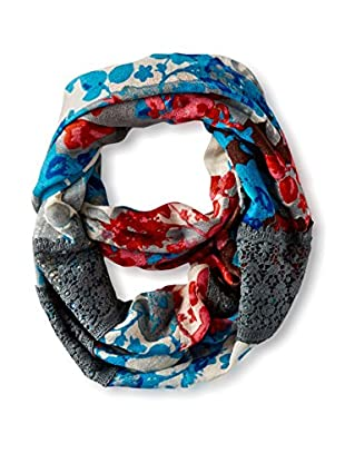 Saachi Women's Floral Lace Infinity Scarf, Turq Coral