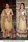 Bollywood Replica Gauhar Khan Net Lehenga In Cream Colour NC698