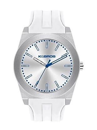 K&BROS 9560-4 / Reloj Unisex  con correa de caucho Blanco