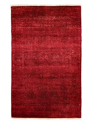 Darya Rugs Modern Oriental Rug, Pink/Red, 3' 10