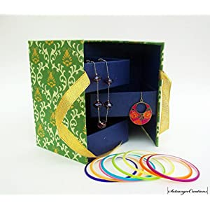 Satrangee Creations 3 Rack Jewellery Box in Green