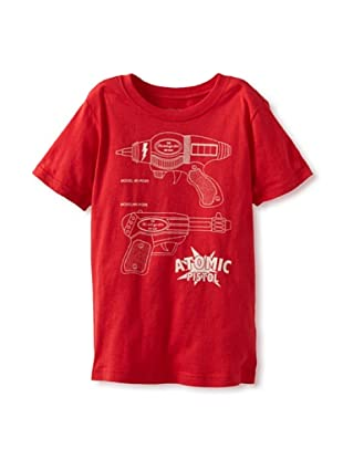 Little Lords of Liverpool Boy's Atomic Pistol T-Shirt (Red)