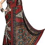 Printed Mysore art silk Sari