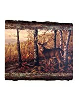 Walnut Hollow InGrained Art with Bark Edge, Whitetail Buck