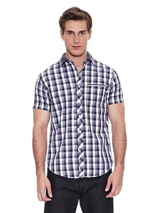 Springfield Camisa Vestir M/C. N1 Cuadro Fred Tippin (Rosa / Morado)