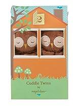 Angel Dear Cuddle Twin Set, Brown Owl