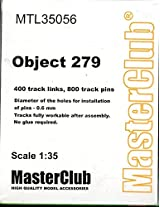 Master Club 1:35 Object 279 Tank White Metal Workable Tracks #Mtl35056