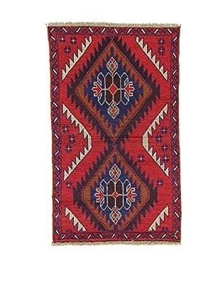 L'EDEN DEL TAPPETO Alfombra Beluchistan Rojo/Multicolor 85 x 141 cm