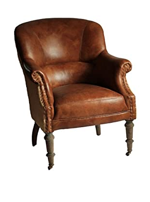 Melange Home Edinburgh Armchair, Whiskey Brown Leather