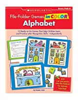 Scholastic 978 0 439 46591 5 File Folder Games In Color Alphabet
