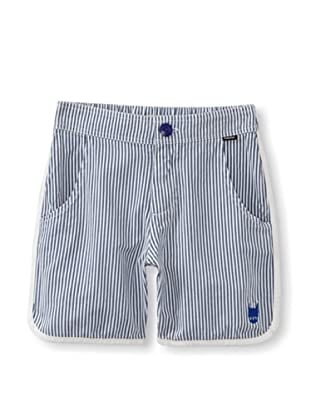 Munster Kid's Rusted Twill Shorts (Navy Stripe)