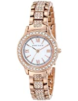 Anne Klein Womens AK/1492MPRG Swarovski Crystal Accented Rose Gold-Tone Bracelet Watch
