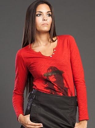 Ikks Camiseta Print (Rojo)