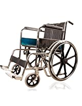 JSB W03 Folding Imported Magwheel Wheelchair (Silver-Black)