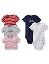 Carter's Boys 5 Pack Mommy's First Mate/Captain Adorable Nautical Theme Bodysuits - 12 MONTHS|18 MONTHS|24 MONTHS|3 MONTHS|6 MONTHS|9 MONTHS|NEWBORN - Navy