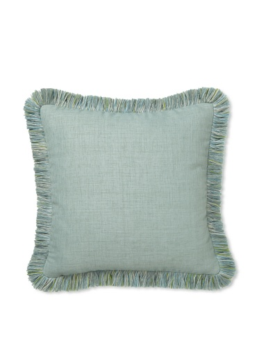 Elsa Blue Spa with Fringe Indoor/Outdoor Pillow, 17