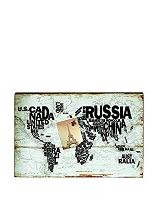 Torre & Tagus Litho World Map Magnetic Memo Board