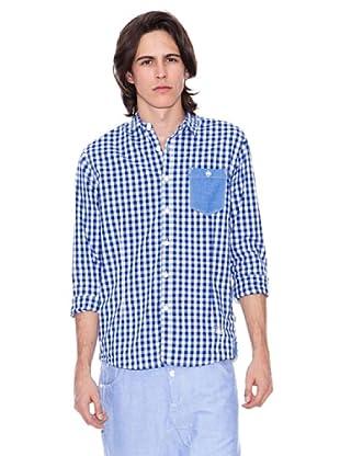 Gio Goi Camisa Starkas (azul / blanco)