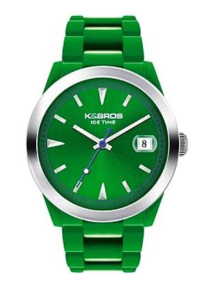 K&BROS 9541-4 / Reloj Unisex  con correa de caucho verde
