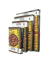 "R S Jewels Handmade Paper Printed ""OM"" Diary NotePad 4 Pcs Set DRY-0214"