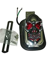Rear Customized Skull Brake Tail/Brake Light For Royal Enfield Bullet/and other bikes and cars