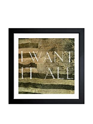 Oliver Gal I Want It All Framed Art