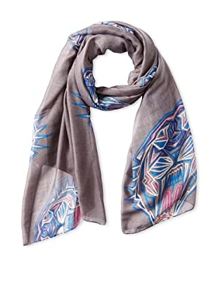 Jules Smith Women's Tiger Scarf, Gray