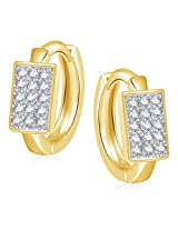 Meenaz Earrings Bali Fancy Gold Plated For Girls And Women In American Diamond B156