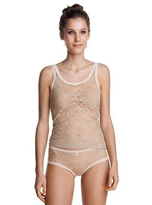 Esprit Bodywear Damen Unterhemd F2837/Luxury Lace (Beige (39 = Beige))