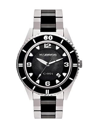 K&BROS 9113-1 / Reloj Unisex  con brazalete metálico Negro