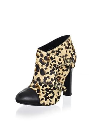 Candela Women's Leopard Buckle Boot (Leopard/Black)